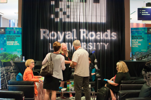 The Royal Roads Lounge was a popular hang-out and meeting space between sessions