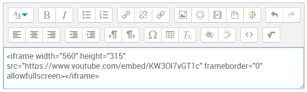 Moodle - Embedding content using HTML editor - IT