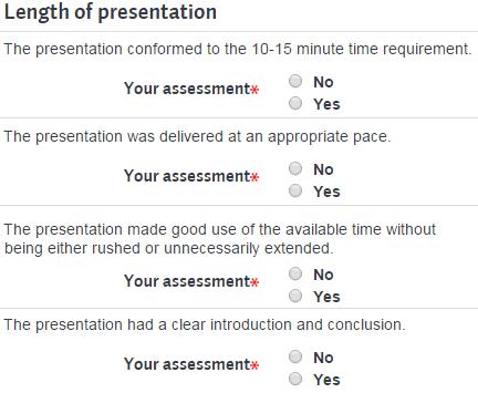Rubric example of checklist