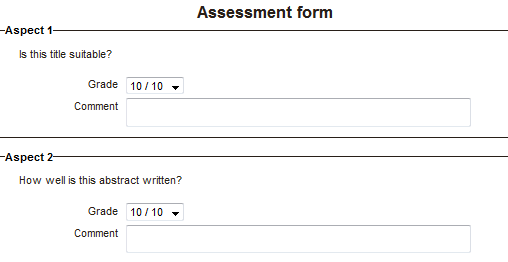 accumulative grading assessment form