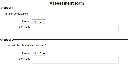 accumulative grading assessment form