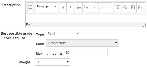 workshop assessment form setup - aspect