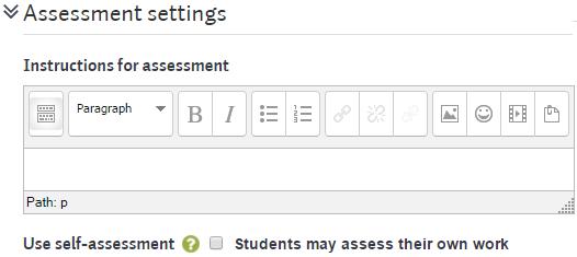 workshop settings assessment