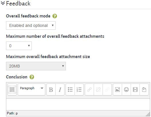 workshopsteps settings feedback
