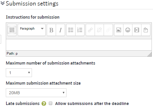 workshopsteps settings submission