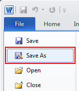 From Word With The Document Youd Like To Compress Click On File In Top Left And Then Save As