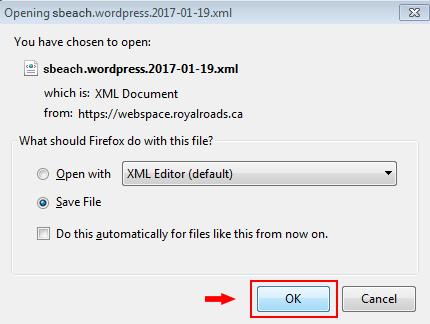 Opening xml file