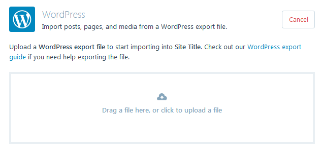 WordPress.com - Upload a File