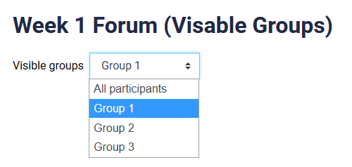 visable groups selection