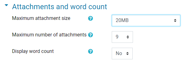 attachments and word count