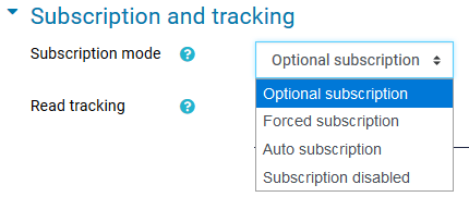 optional subscription