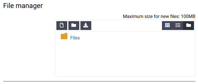 file manager max file size