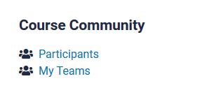 course community