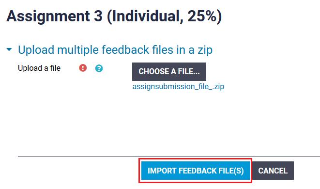 import feedback files