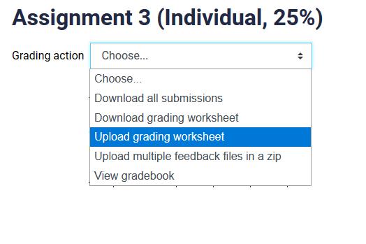 uploading grading worksheet
