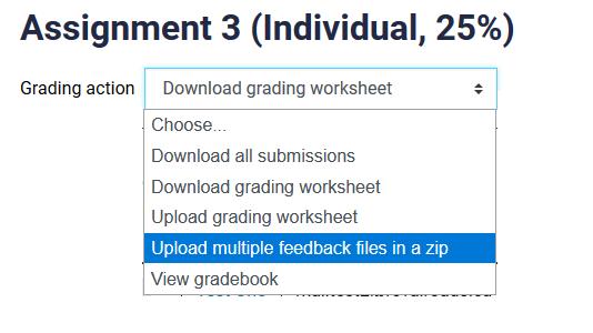 upload multiple feedback files