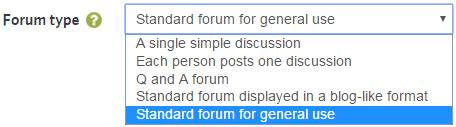 Forum Types